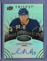 SAM REINHART 2014-15 UPPER DECK TRILOGY AUTO RC ROOKIE CARD BUFFALO SABRES /399