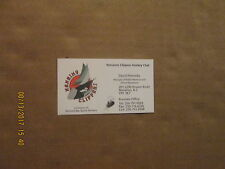 Bchl Nanaimo Clippers Hockey Club David Prescesky Logo Hockey Business Card