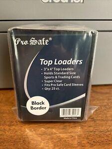 200 NEW Black Border 3x4 Toploaders Toploader Top Loaders 4 Standard Size Cards