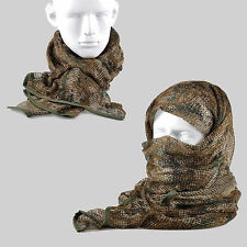 Woodland Digital Camouflage Army Mesh Breathable Scarf Wrap Mask Shemagh Veil