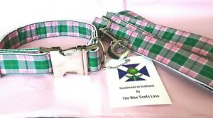 MacDonald Tartan Dog Collar and Lead Set by The Wee Scots Lass Gorgeous Colours