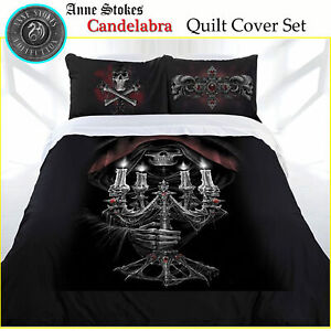 3 Pce Candelabra Gothic Fantasy Quilt Cover Set Anne Stokes DOUBLE QUEEN KING