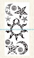 US SELLER, temporary body tattoos sun moon star tribal temporary tattoo