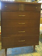 Mid Century High Boy Dresser - Wood with Formica Top