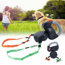Double Head Creative Dog-Walking Automatic Telescopic Leash Dog Chain Pet 3m New