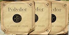 Bach  Louise Thyrion A.Goldschmidt  78 trs / 78 RPM Polydor 6308, 6309 & 6310