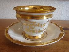 große Geburtstagstasse der Gesellschaft Germania 1863, Biedermeier, KPM Krister