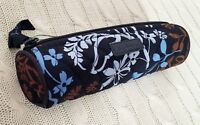 Vera Bradley On A Roll Case Java Floral Blue Pencil Case Cosmetic NWT MSRP $18