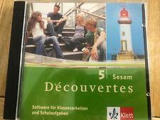 Découvertes 5 Sesam   Software für Klassenarbeiten  CD-Rom  