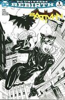 Batman #1 DC Comics Rebirth Midtown Comics Terry Dodson Sketch Variant Catwoman