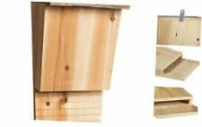 Evergreen Natural Wood Solid Pine Single Chamber Bat House - Natural Pesticide a