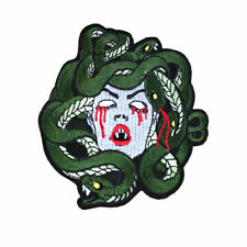 Large Medusa Snake Embroidered Iron Sew On Patches Appliques Badges Crafts DIY