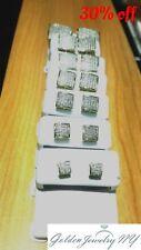 Solid Man 10K Yellow Gold Micro-Pave Earrings Genuine Diamond (TCW) 0.10 - 1.00