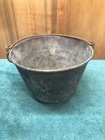 Antique HW Hayden Brass Bucket Pail Patent 1851 Waterbury Brass Co.