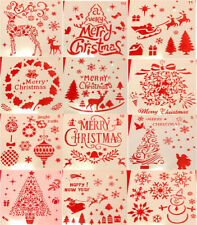 CHRISTMAS STENCILS, Lot Of 12, NEW