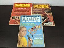 Lot of 3 Vintage Electronics Illustrated Magazines - 1967, 1969, 1970 - Cb Radio