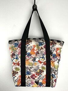 Le Sport Sac Nylon Tote Pattern Large Bag Graphic Print Star Pasta Rollerskate