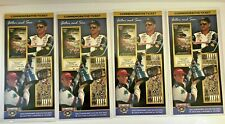 Mint Set 4pc Dale Earnhardt Jr & Sr Commemorative Tickets Father Son Daytona 500