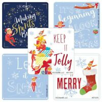 Elf on the Shelf Stickers x 5 - Christmas Stickers - Elf Ideas - Gifts - Style 2