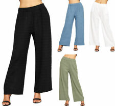 Pantaloni da donna multicolore in cotone a gamba larga