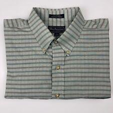 burberry london mens dress shirt Size XL