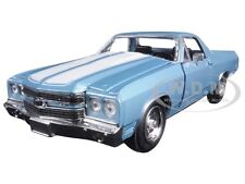 1970 CHEVROLET EL CAMINO SS BLUE 1/24 DIECAST MODEL CAR BY NEW RAY 71885
