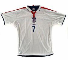 2003-05 England Home Beckham - Adult XL