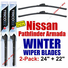 WINTER Wiper Blades 2pk Premium fit 2004 Nissan Pathfinder Armada ONLY 35240/220