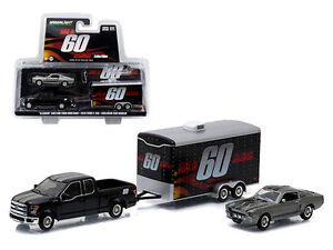 GREENLIGHT 1:64 HITCH & TOW GONE IN 60 SECONDS FORD MUSTANG TRAILER SET 51008