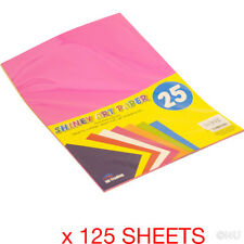 125 SHEETS A4 SHINY ART PAPER CRAFT GIFT WRAPPING COLLAGE THIN CARD