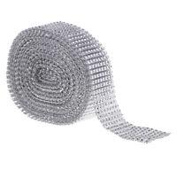 10 metri di nastro di cristallo strass avvolgimento di diamanti con