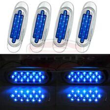 4X Blue Waterproof 16Led Side Marker Lamp Clearance Light 12V Bus Truck Trailer