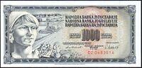 1981 YUGOSLAVIA 1000 DINARA BANKNOTE * DZ 0483514 * gEF * P-92 *