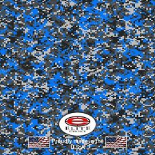 "Digital Camo Blue DECAL 3M WRAP VINYL 52""x15"" TRUCK PRINT REAL CAMOUFLAGE"