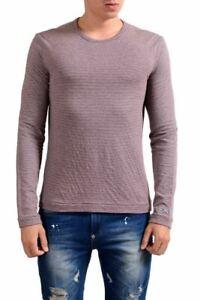 Exte Men'S Multi-Color Crewneck Striped Long Sleeve T-Shirt Size XS S M