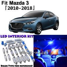 7 x Blue Interior LED Light Package Kit for Mazda 3 Sedan Hatchback 2010 - 2018