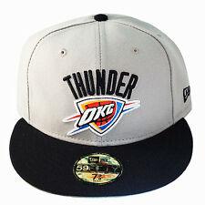 New Era NBA OKC Thunders 5950 Grey Navy Fitted Hat grey Under Brim Classic Cap