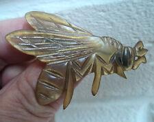 Francés Art Decó Cuerno De Toro volar o WASP Broche-Elizabeth Bonte/Georges Pierre