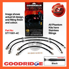 Toyota Supra MA70 86-92 Goodridge Stainless Black Brake Hoses STY1001-4C