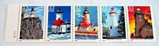 1995 Scott #2969-2973 Great Lakes Lighthouses USPS 29¢ 5 Stamp booklet pane