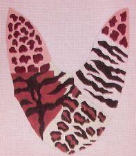 JG Safari Sandal Slide Mule Pair Handpainted HP Needlepoint Shoe Canvases