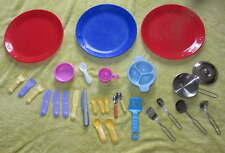 Big Mixed 25+ LOT Play Kitchen TOY Dish Tools Cups Forks Pan Kitchenware Pretend