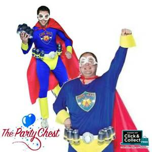 ADULT SUPERHERO BEER MAN COSTUME Duff Man Stag Alcohol Fancy Dress Outfit 6030