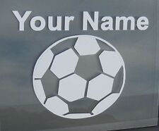 Sports Soccer w/ Your Name Oracal Vinyl Decal Car/Truck/Suv/Laptop/Walls