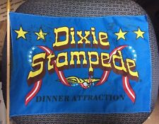 VINTAGE DIXIE STAMPIE DINNER ATTRACTION SIGNED FLAG