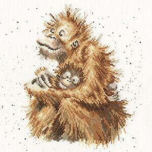 Bothy Threads ~ Counted Cross Stitch Kit ~ Love is ~ Orangutan  ~ XHD29