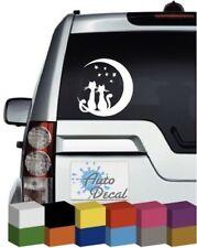 Gato Moon Stars coche ventana de vinilo de animales, Parachoques Calcomanía/Pegatina/Gráfico