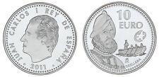 10 SILVER EUROS SPAIN / 10 EUROS DE PLATA ESPAÑA. 2011. ORELLANA. PROOF.