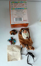 1996 Enesco Buffalo Friends Of A Feather Fetish Bag With Beads Pin New