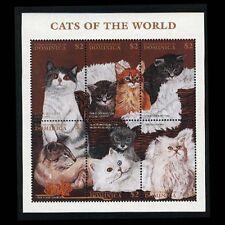 Dominica, Sc #1941, MNH, 1997, S/S, Cats, Animals, 10FDID